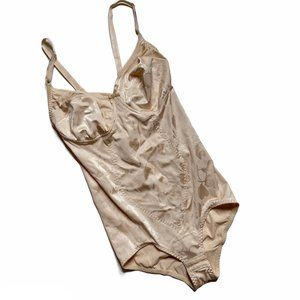 Flexees Shapewear Bodysuit 38C One Piece Tan Nude